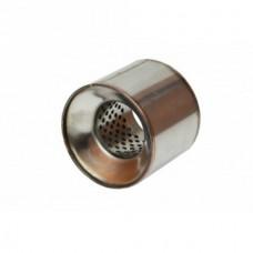 Пламегаситель коллекторный 090x130 ф57 Нерж, пустой (BOKER)
