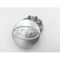 Заглушка ступицы колеса KIA d внешний 59мм, d ножек 51,5мм серый (4шт)